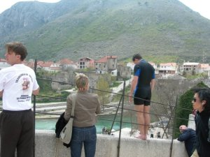 Mostar bridge jumper